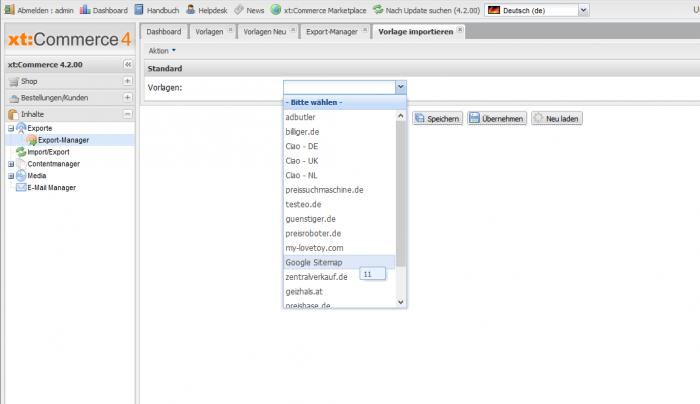 Google Sitemap mit xt:Commerce erstellen