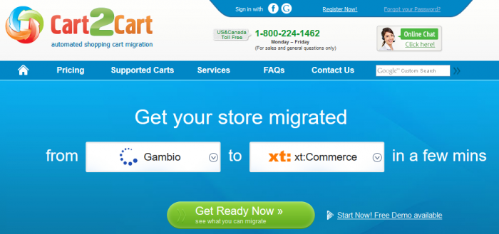 Migration mit Cart2Cart: Gambio zu xt:Commerce
