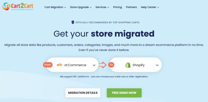 Migration xt:Commece zu Shopify
