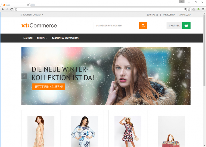 xt:Commerce 5 Slider im neuen Template